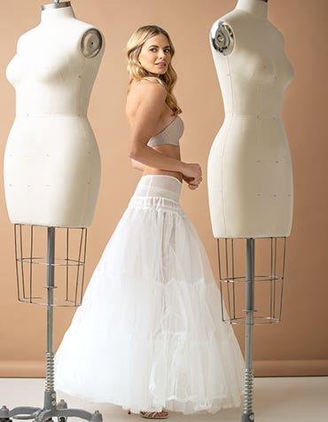 Ballgown Underskirt - adds volume to ballgown wedding dresses