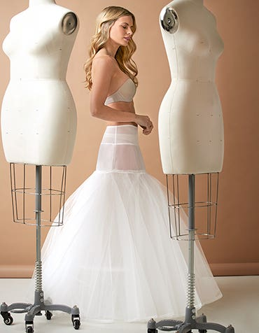 A-line Underskirt - adds shape to any A-line gown