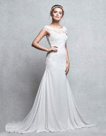 Acacia sheath wedding dress front Signature th