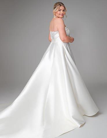 Ada - een moderne mikado jurk met zakken