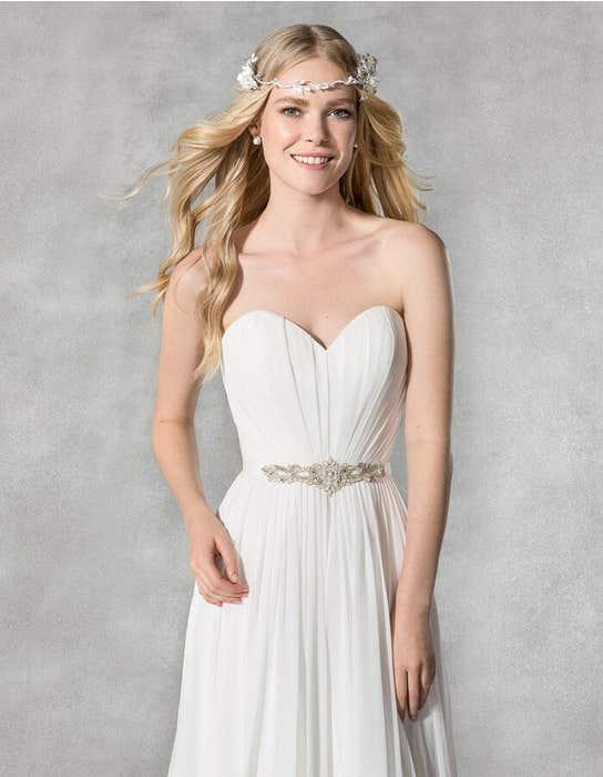 Adeline sheath wedding dress front crop Heidi Hudson