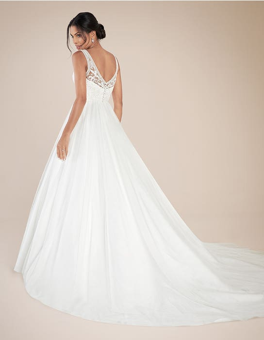 Adelpha Aline wedding dress back Anna Sorrano