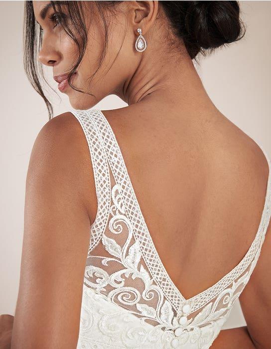 Adelpha Aline wedding dress back crop Anna Sorrano
