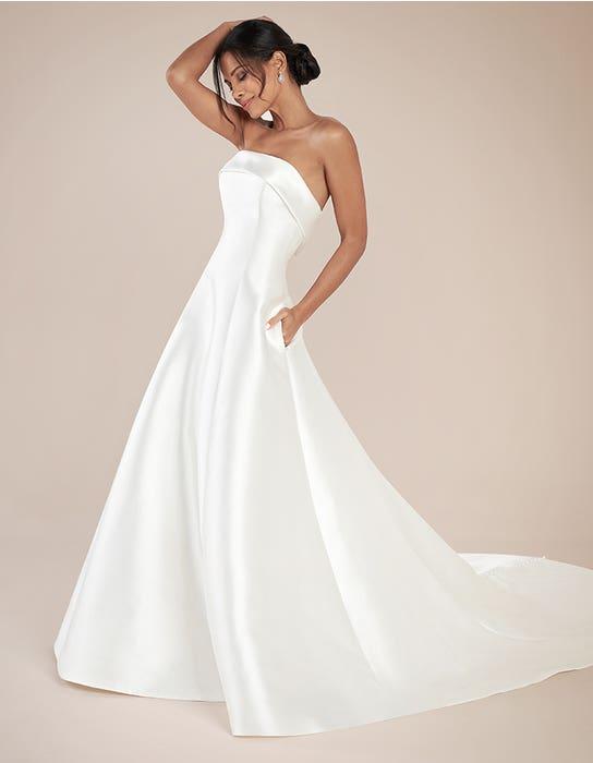 Aden aline wedding dress front Anna Sorrano