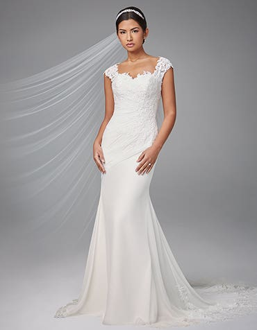 Adina sheath wedding dress front Anna Sorrano thumbnail