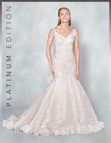 Alabama fishtail wedding dress front Viva Bride thumbnail