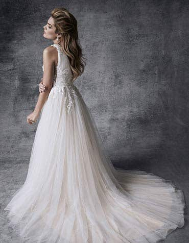 Alaia aline wedding dress back Signature th