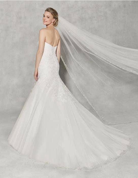 Albany fit _ flare wedding dress back Anna Sorrano