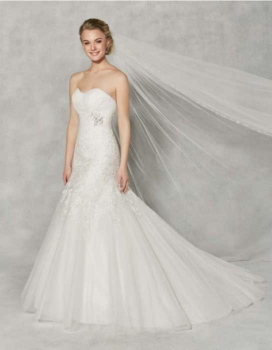 Albany fit _ flare wedding dress front Anna Sorrano
