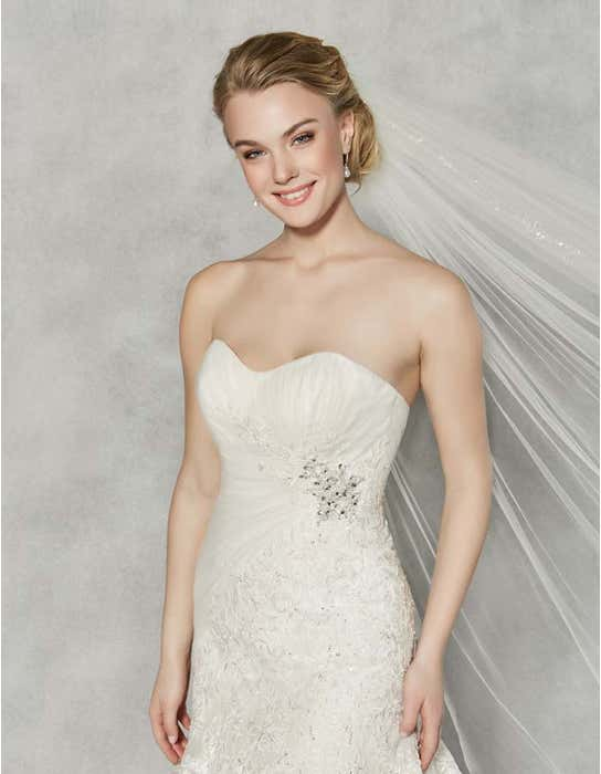 Albany fit _ flare wedding dress front crop Anna Sorrano