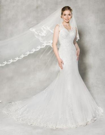 ALEXIS - Een vintage kanten fishtail-jurk