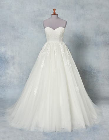 Allure bridal overskirt front Amixi th