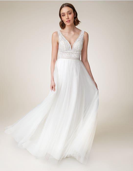 Alma Aline wedding dress front Heidi Hudson