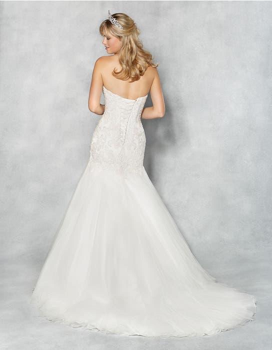 Amanie fishtail wedding dress back Viva Bride