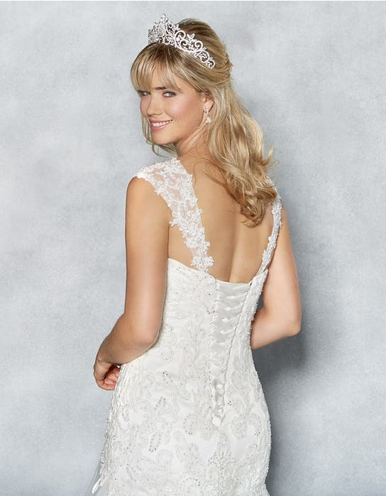 Amanie fishtail wedding dress back crop Viva Bride
