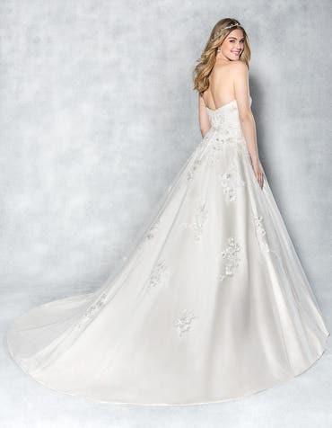 Anastasia aline wedding dress back Viva Bride th