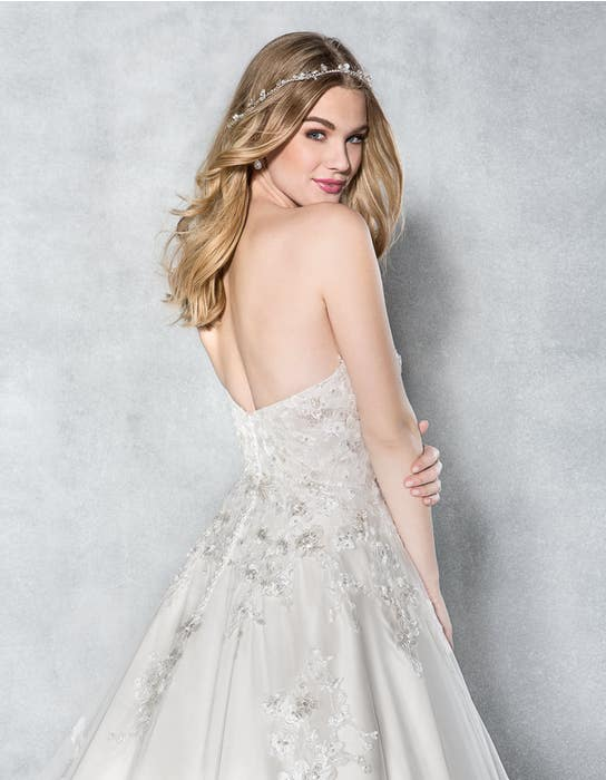 Anastasia aline wedding dress back crop Viva Bride
