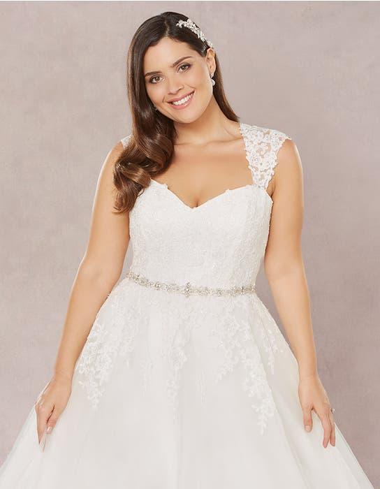 Annie aline wedding dress crop front2 Bellami