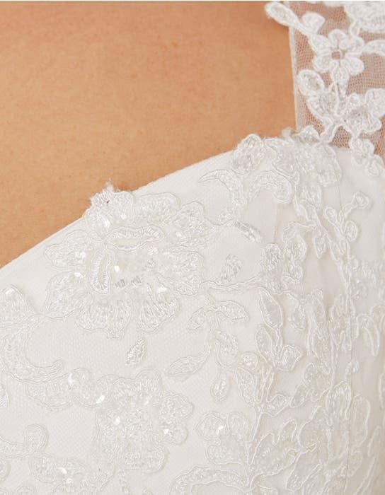 Annie aline wedding dress detail Bellami