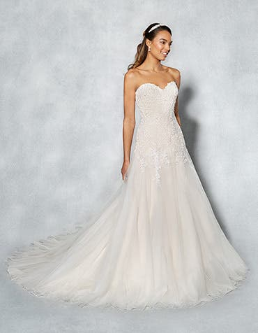 Arizona fit _ flare wedding dress front Viva Bride th