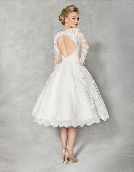 Arlington short wedding dress back Anna Sorrano