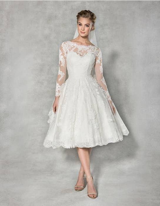 Arlington short wedding dress front Anna Sorrano