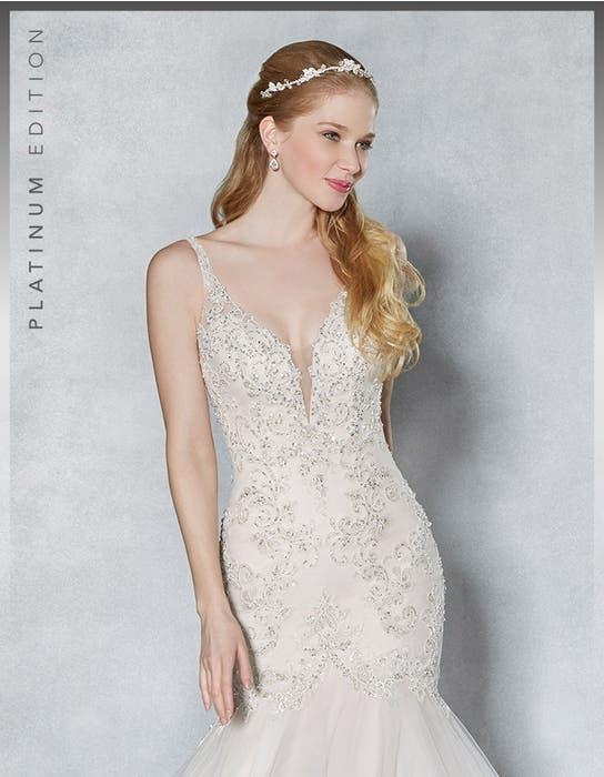 Armelle fishtail wedding dress crop front Viva Bride