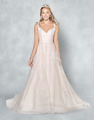 Ashlynn aline wedding dress front Viva Bride th