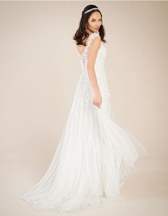 Astrid fit _ flare wedding dress back Viva Bride