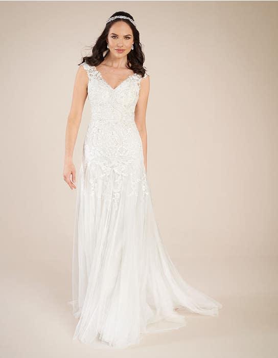 Astrid fit _ flare wedding dress front Viva Bride