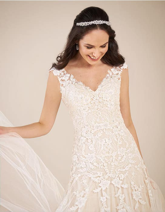 Astrid fit _ flare wedding dress front crop Viva Bride