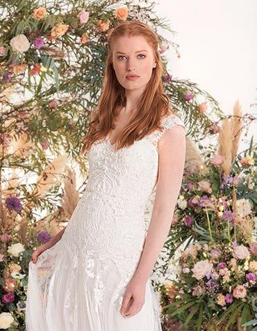 Astrid - een moderne tule en kanten jurk
