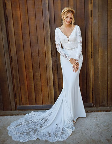 Athens sheath wedding dress front Signature thumbnail