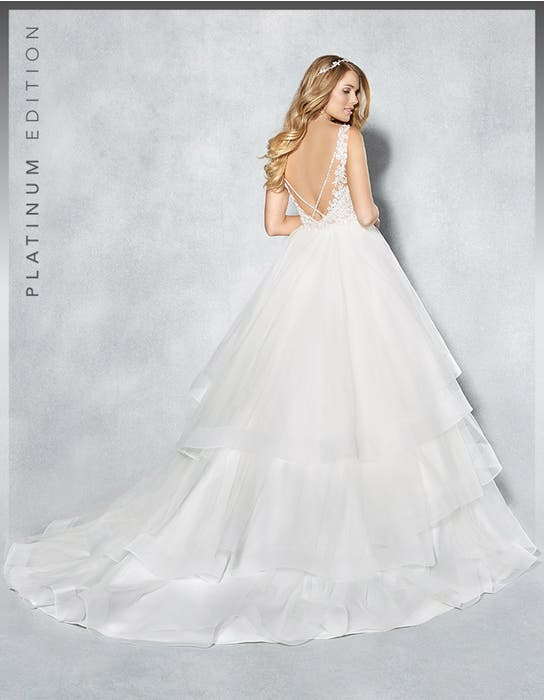 Atlanta ballgown wedding dress back Viva Bride