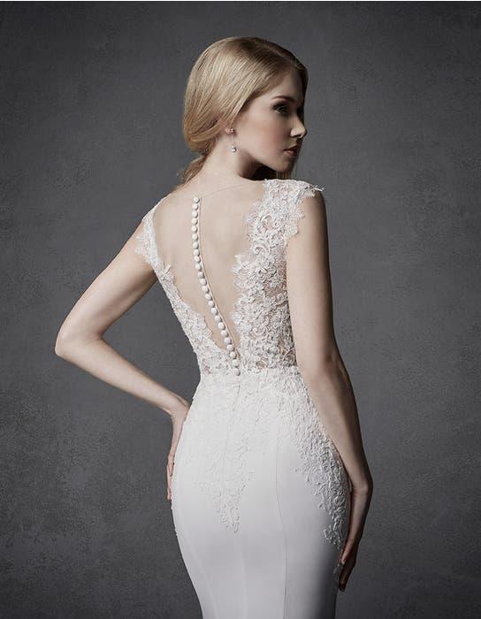 Atlas sheath wedding dress crop back Signature