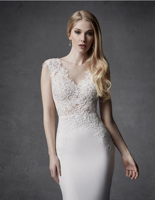 Atlas sheath wedding dress crop front Signature