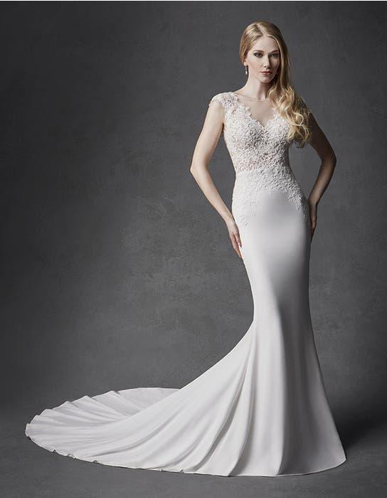 Atlas sheath wedding dress front Signature
