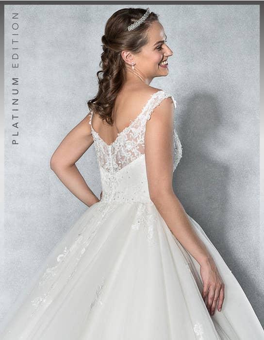 Aurora ballgown wedding dress back crop Viva Bride
