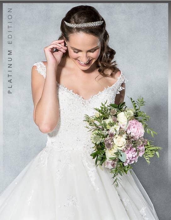 Aurora ballgown wedding dress front crop Viva Bride