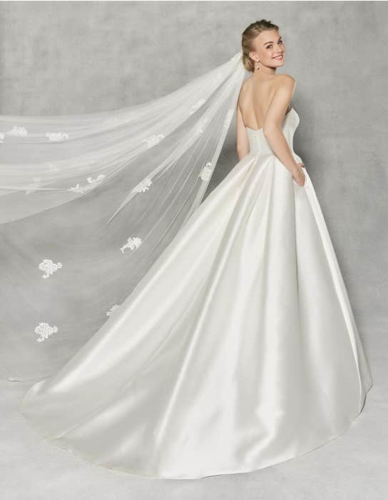 Austen ballgown wedding dress back Anna Sorrano