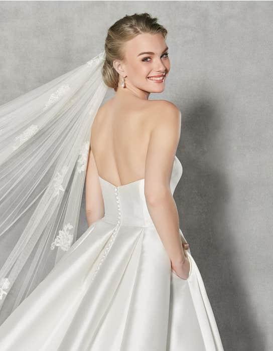 Austen ballgown wedding dress back crop Anna Sorrano