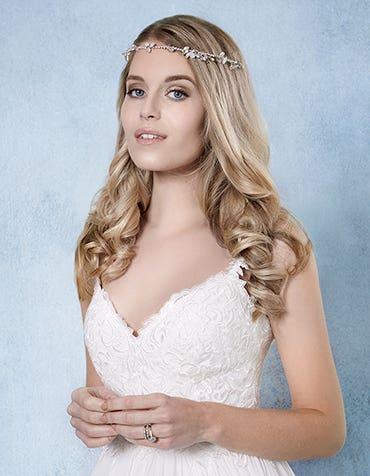 Autumn bridal hair accessory front Amixi th