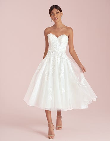 Avril short wedding dress front Viva Bride th