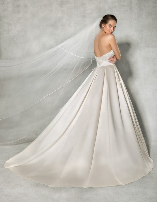 Beckett ballgown wedding dress back Anna Sorrano