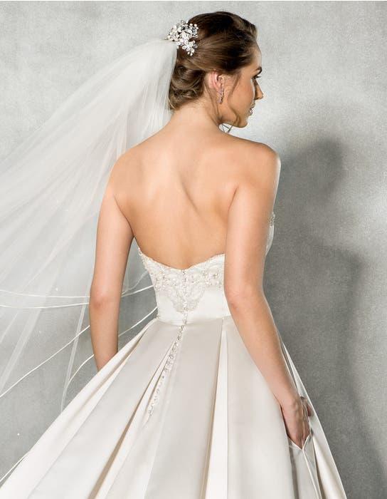 Beckett ballgown wedding dress back crop Anna Sorrano