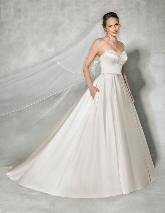 Beckett ballgown wedding dress front Anna Sorrano