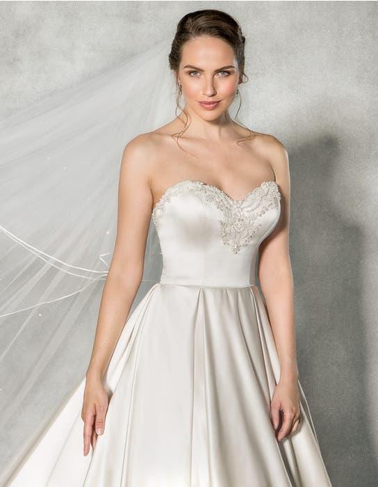 Beckett ballgown wedding dress front crop Anna Sorrano