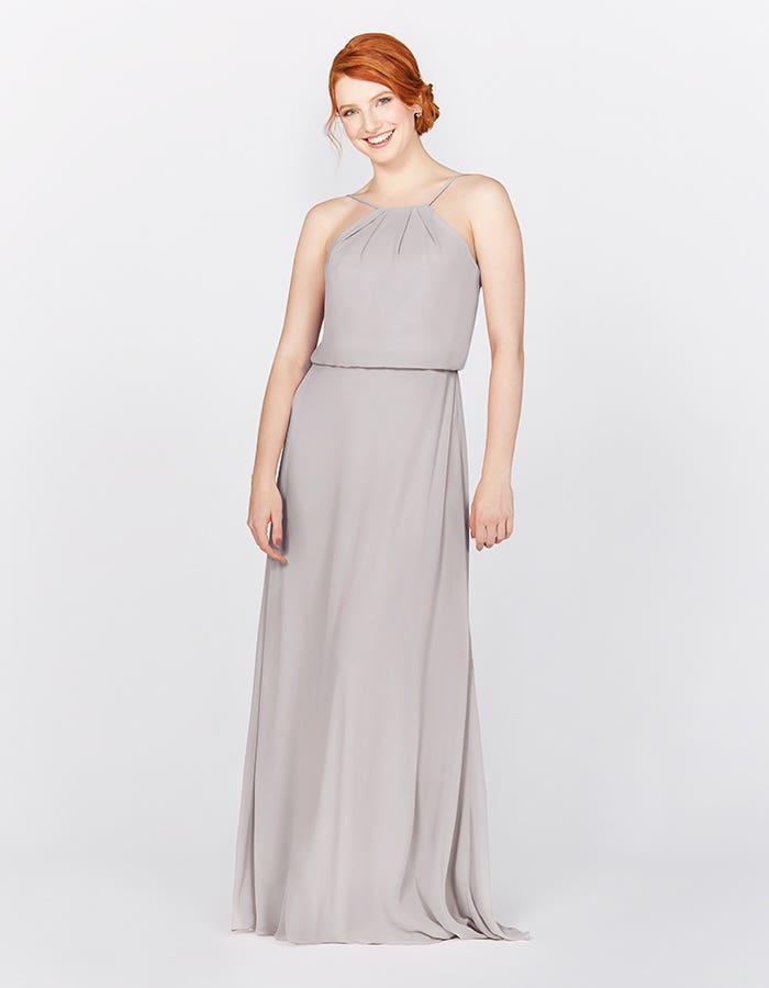Silver Grey Bridesmaid Dresses Wed2b