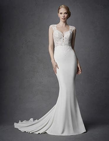 Berlin sheath wedding dresses front Signature th