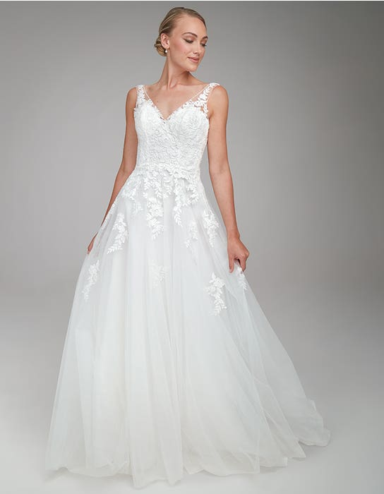 Brielle A_line Wedding dress Front Anna Sorrano